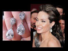 Celebrity Bridal Earrings Post Earrings  by RebekahsJewelryBox, $29,50