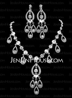 Jewelry - $29.99 - Jewelry Sets Anniversary Wedding Engagement Birthday Gift Party Alloy With Rhinestones Silver Jewelry With Rhinestone (011019283) http://jenjenhouse.com/Jewelry-Sets-Anniversary-Wedding-Engagement-Birthday-Gift-Party-Alloy-With-Rhinestones-Silver-Jewelry-With-Rhinestone-011019283-g19283