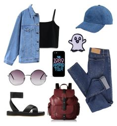 """Untitled #10"" by yattodekita on Polyvore featuring Cheap Monday, Chicwish, Quintess, Kenneth Cole Reaction, rag & bone, Madewell, Monki and Hipstapatch"
