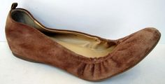 J. Crew 'Anya' Brown Suede Ballet Flat Size 7 #JCrew #BalletFlats