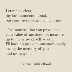 Unconditional love but with conditions