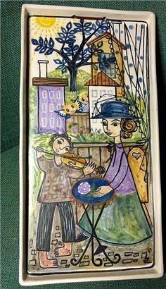 Annons på Tradera: VäggPlatta Kupittaan Savi Finland 33x17x3 Ovanlig Ernst Ludwig Kirchner, Ceramic Wall Art, Uppsala, Ceramics Ideas, Plates And Bowls, Metallica, Finland, Interior Inspiration, Folk Art
