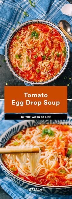 3. Tomato Egg Drop Soup #greatist https://greatist.com/eat/vegetarian-dinners-in-15-minutes-or-less
