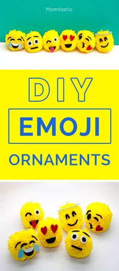 DIY Emoji ornaments for your Christmas tree!