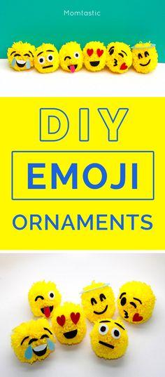 DIY Emoji ornaments for your Christmas tree!