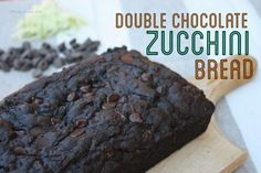This Gluten Free Double Chocolate Zucchini Bread is a delicious.
