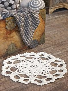 Crochet doily rug pattern from rowan