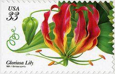 33c Gloriosa Lily booklet single