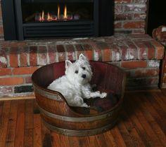 Wine Barrel Dog Bed