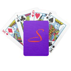 Purple and Orange Playing Cards