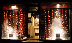 The beautiful Christmas Window Display at Griffin Denim Christmas Window Display, Christmas Tree, Cable And Cotton Lights, Happy Lights, Beautiful Christmas, Visual Merchandising, Wonders Of The World, Windows, Denim