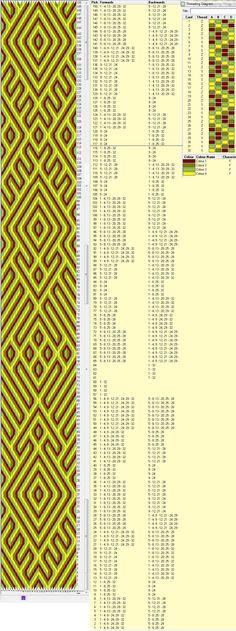 32 tarjetas, 4 colores, repite dibujo cada 116 movimientos // sed_171༺❁