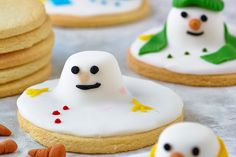Melted snowmen biscuits, Christmas biscuits recipe