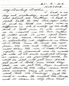 As soon as this old war is over..., 1942.  Harold Williams wrote to his future wife, Daphne Smith. The letter was written during WWII and he writes about his day and his love for his bride. #Letter