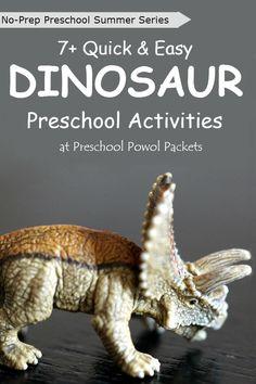 Perfect! No-prep preschool dinosaur activities!!  Great for preschool and kindergarten.  Fun, challenging activities that take no preparation time!