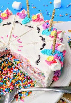 Unicorn Confetti Crispy Cake