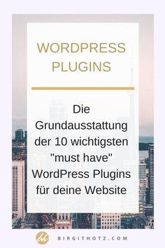 Die 10 wichtigsten (must have) WordPress Plugins 2018 - UI Design Board Facebook Marketing Tools, Online Marketing, Inbound Marketing, Affiliate Marketing, Wordpress Plugins, Wordpress Theme, Blogger Blogs, Photoshop Plugins, Future Jobs