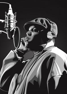 Artist Music poster prints by Carmela Embanecido Notorious Big Poster, Arte Do Hip Hop, Tupac Art, Rapper Art, Black Art Pictures, Big Music, Hip Hop And R&b, Vector Portrait, American Rappers