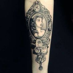 Beauty and the Beast Belle Mirror Tattoo