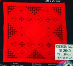 Hardanger Tabletopper Kit - Red Hemstitched