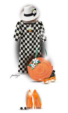 """""""Orange for Summer"""" by rockreborn ❤ liked on Polyvore featuring JVL, Kate Spade, Casadei, Skagen, Retrò, Chanel, polyvorecommunity, polyvoreeditorial, blackstuds and orangepumps"""