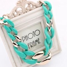 Turquoise statement necklace Also comes in peach Jewelry Necklaces