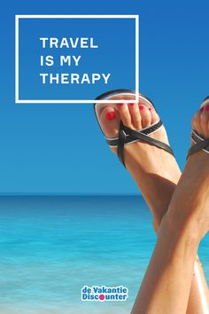 """Travel quote: """"Travel is my therapy"""""""