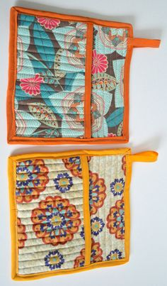 Quilted Pot Holders with Pocket « Making It With Danielle