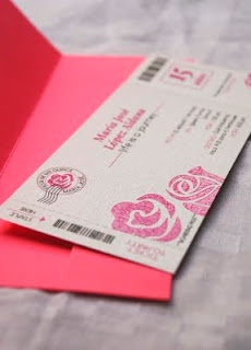 quince (sweet 16) boarding pass invitation