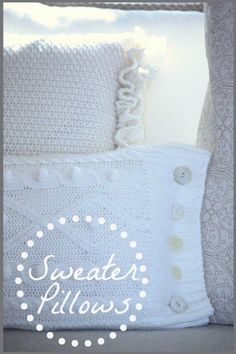 DIY Sweater Pillow. A cute way to decorate for and make Fall and Winter more cozy.