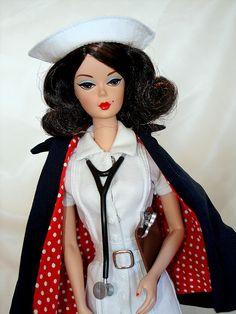 vintage nurse Barbie
