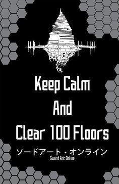 Sword Art Online SAO Keep Calm Print 11x17 by BenjinxDesigns