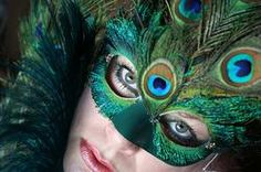 Peacock Feather Mardi Gras Mask