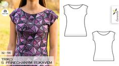 Triko s přinechaným rukávem (střih a návod) – Caramilla.cz Sewing Patterns Free, Diy Crafts To Sell, Sewing Projects, Outfits, Clothes, Things To Sell, Dresses, Design, Fashion