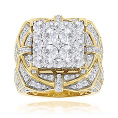 Hip Hop Rings: This Unique Mens Diamond Ring is available in gold, showcases amazing carats of round diamonds and weights 28 grams. Featuring an oversized design and a highly polished gold finish, this hip hop mens diamond ring is truly unique a Diamond Rings, Diamond Engagement Rings, Diamond Jewelry, Mens Pinky Ring, Pinky Rings, Hip Hop, Round Cut Diamond, Round Diamonds, Wedding Ring Bands
