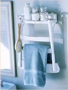 mensola per bagno con portasciugamani