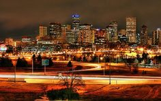 Denver lights! Love the feeling I get when I cruise in for a night out and see this.