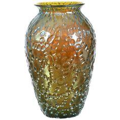 Signed Loetz Vase Crete Diaspora Pattern