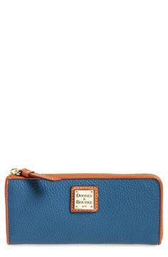 Women's Dooney & Bourke Leather Zip Around Wallet - Blue