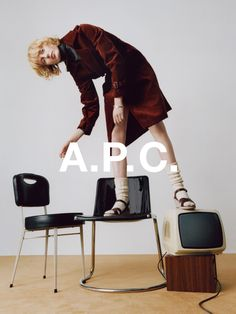 campaign inspiration Inspiration Chairs We are looking for chairs and stools for our studio space and have been inspired by fashion editorials showing all the creative uses for chairs.
