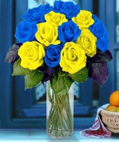 Blue and Yellow Wedding Bouquets Blue Yellow Weddings, Yellow Wedding Flowers, Yellow Flowers, Wedding Blue, Diy Centerpieces Cheap, Starry Night Wedding, Royal Blue And Gold, Blue Bouquet, Flower Delivery