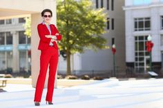 Make a Statement | The Red Suit  power suit, office style, dress for work, business professional, fashion, style, elegant
