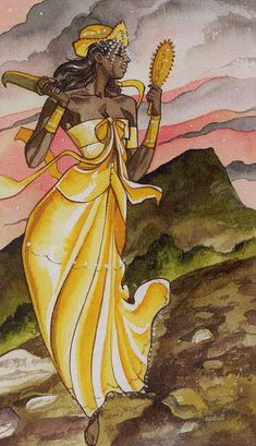 XVII. The Star - Afro-Brazilian Tarot by Giuceppe Palumbo