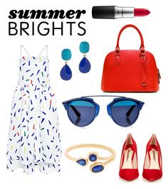 """Patriotic"" by adriana-wilson ❤ liked on Polyvore featuring Edit, Sophia Webster, Christian Dior, Kenneth Jay Lane, MAC Cosmetics and summerbrights"
