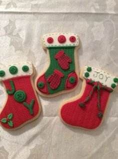 Christmas Stocking Images, Christmas Stocking Cookies, Green Christmas Stockings, Merry Christmas, Xmas, Fall Cookies, Cupcake Cookies, Sugar Cookies, Cupcakes