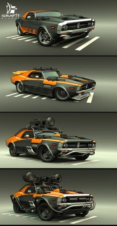 ArtStation - Battle Carzzz - Muscle, Rust Shake