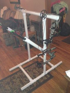 Pvc Target Bow Stand W/ Arrow Holder Archery Rack Diy Plans
