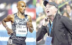 Mo Farah (left) — Victim of doping and  Alberto Salazar — American Coach