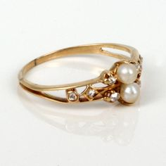 antique pearl engagement rings