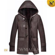 CWMALLS® Sheepskin Jacket with Hood CW836017